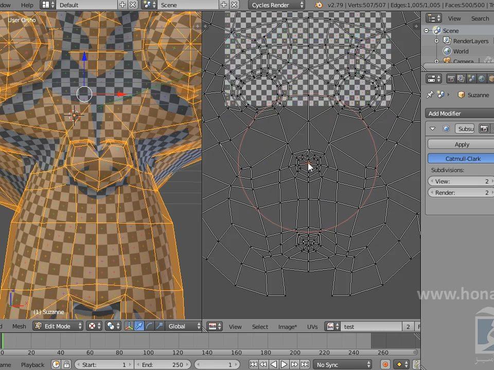 UV Mapping در Blender