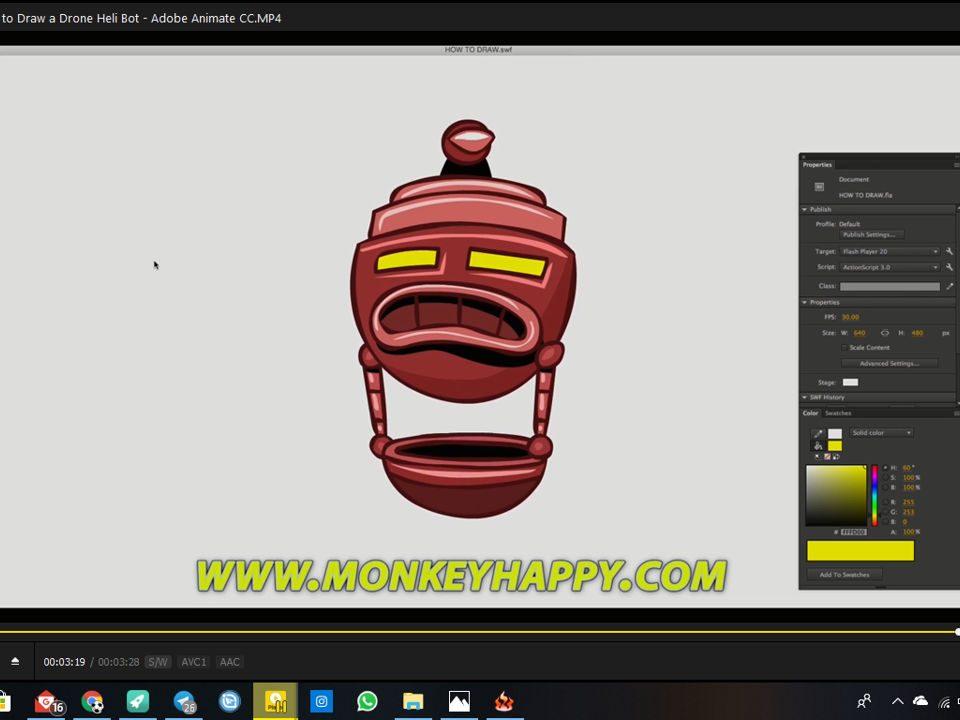 آموزش طراحی کاراکتر در نرم افزار ادوبی انیمیت