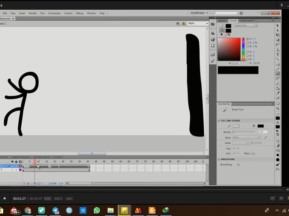 قسمت دوم آموزش انیمیشن 2D در قسمت یک انیمیشن فریم به فریم درست می کنیم برای درست کردن انیمیشن فریم به فریم بهتره از قلم نوری استفاده شود