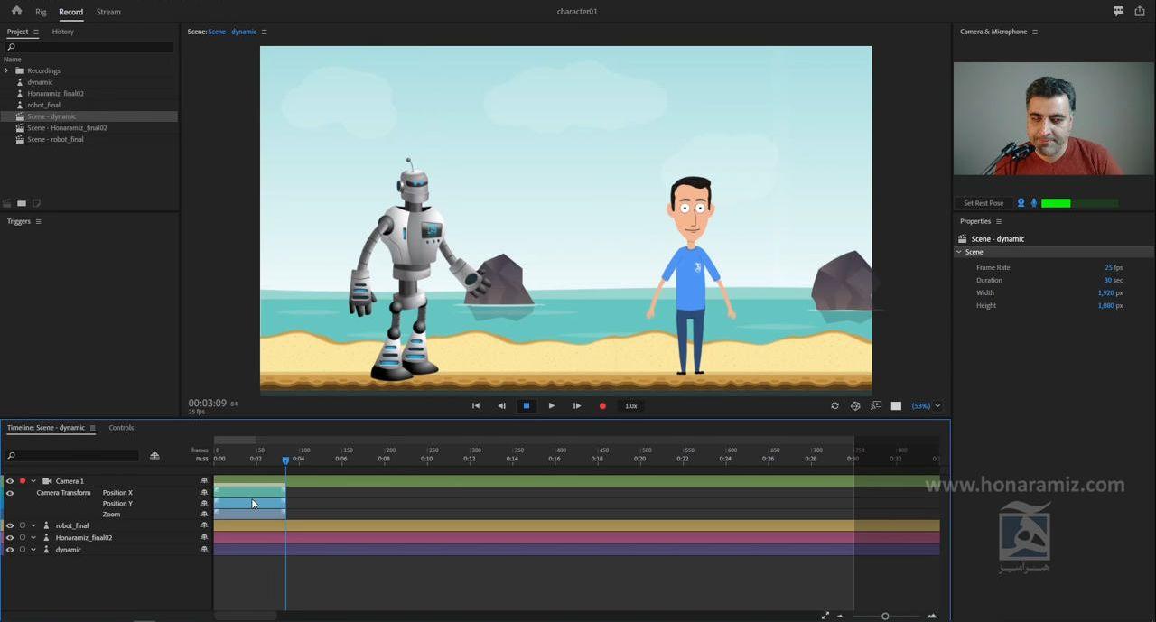 اتصال بین after effects و character animator